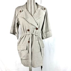 Graham & Spencer Linen Short Sleeve Belted Jacket